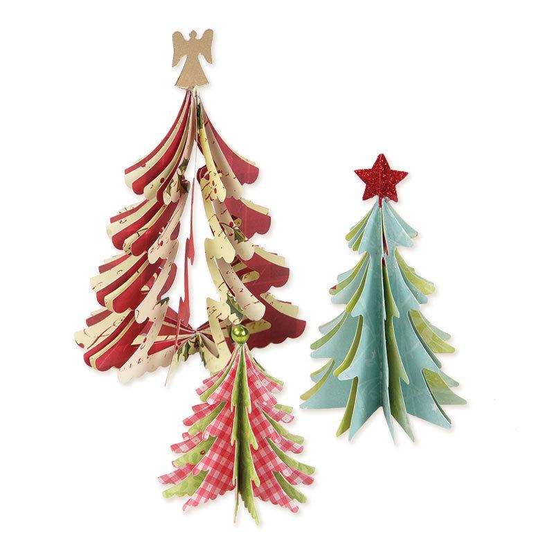 3-D Christmas Trees  by Brenda Walton