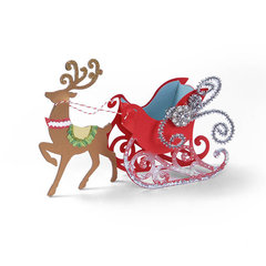 Sleigh Favor Box & Reindeer by Beth Reames