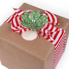 Poinsettia Gift Topper  by Deena Ziegler