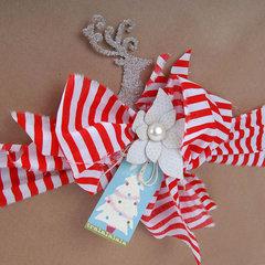 Glittered Reindeer Gift Topper  by Deena Ziegler