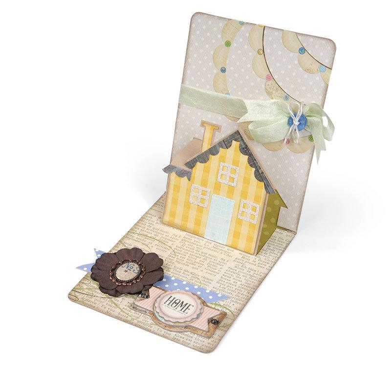 Little Plaid House Pop Up Card