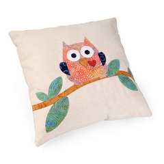 Whoo's Looking at Me Pillow by Linda Nitzen