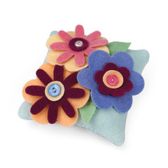 Petite Floral Pillow by Linda Nitzen