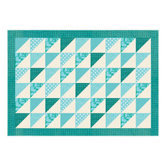 Triangles on Parade Placemat by Linda Nitzen