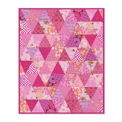 Pyramid of Triangles Cradle Blanket by Linda Nitzen