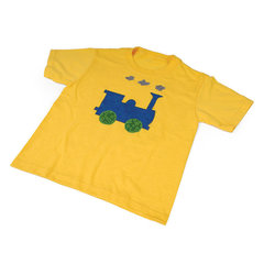 Train Engine T-Shirt by Linda Nitzen