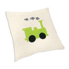 Train Engine Pillow by Linda Nitzen