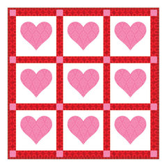 Passionate About Pink Hearts Wall Hanging by Linda Nitzen