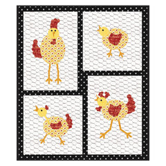 Gertrude Flew the Coop Wall Hanging by Linda Nitzen
