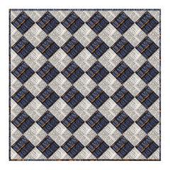 Squares to Argyle Quilt by Linda Nitzen