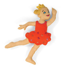 Dancing Princess Stuffed Friend by Jorli Perline