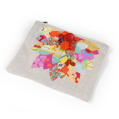 Layered Leaves Pouch by Lisa Elston