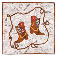 Dancing Cowboy Boots Wall Hanging by Shirley Van Dyken
