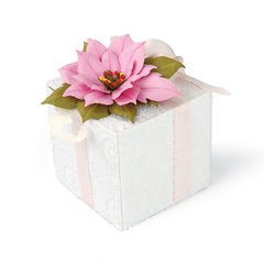 Pink Poinsettia Gift Box by Debi Adams