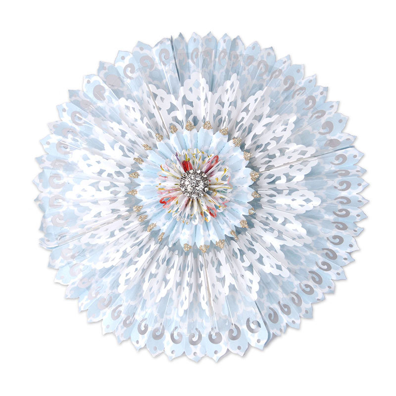 Light Blue Lace Rosette by Beth Reames