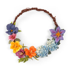Floral Wreath by Susan Tierney-Cockburn