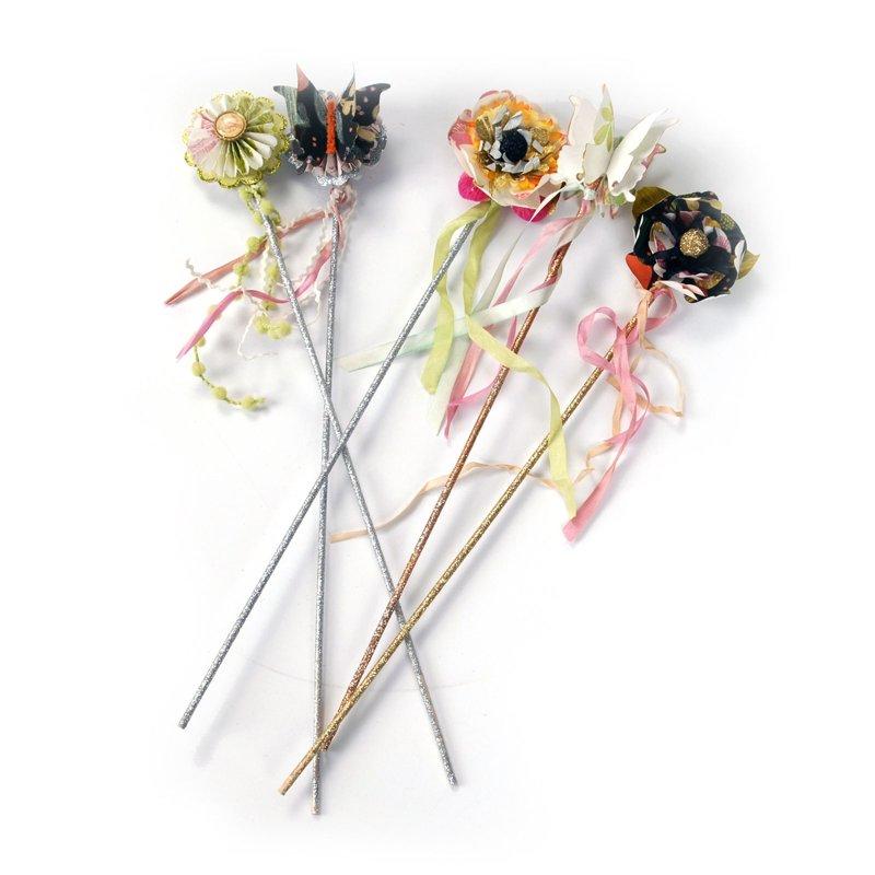 Paper Flower Wands by Brenda Walton