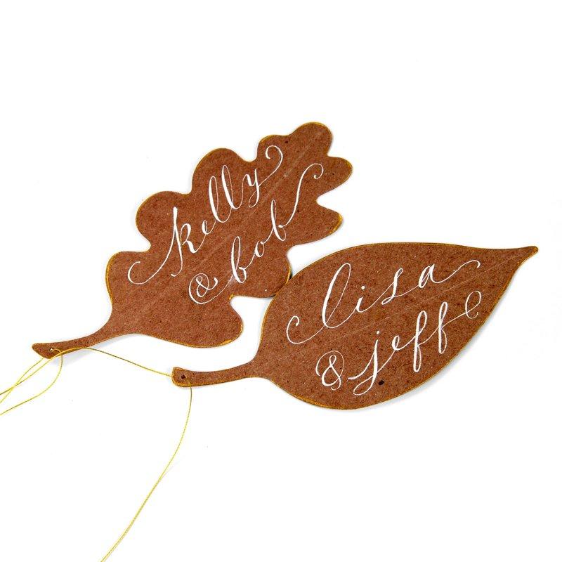 Leaf Gift Tags or Escort Cards 2 by Brenda Walton
