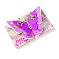 Happy Birthday Butterfly Card 6 by Brenda Walton