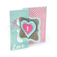 Heart Lock Flip Its Card