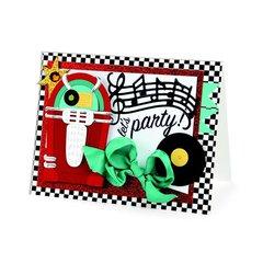 Jukebox Party Card by Debi Adams