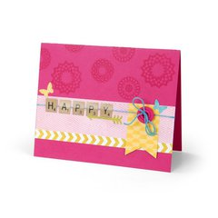 Happy Game Tile Card by Cara Mariano