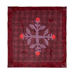 Crimson Rose Wall Hanging by Jorli Perine