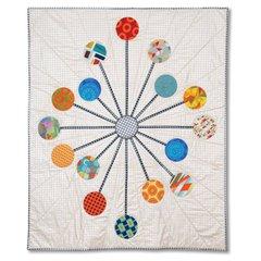 Sputnik Quilt by Kathy Ranabargar