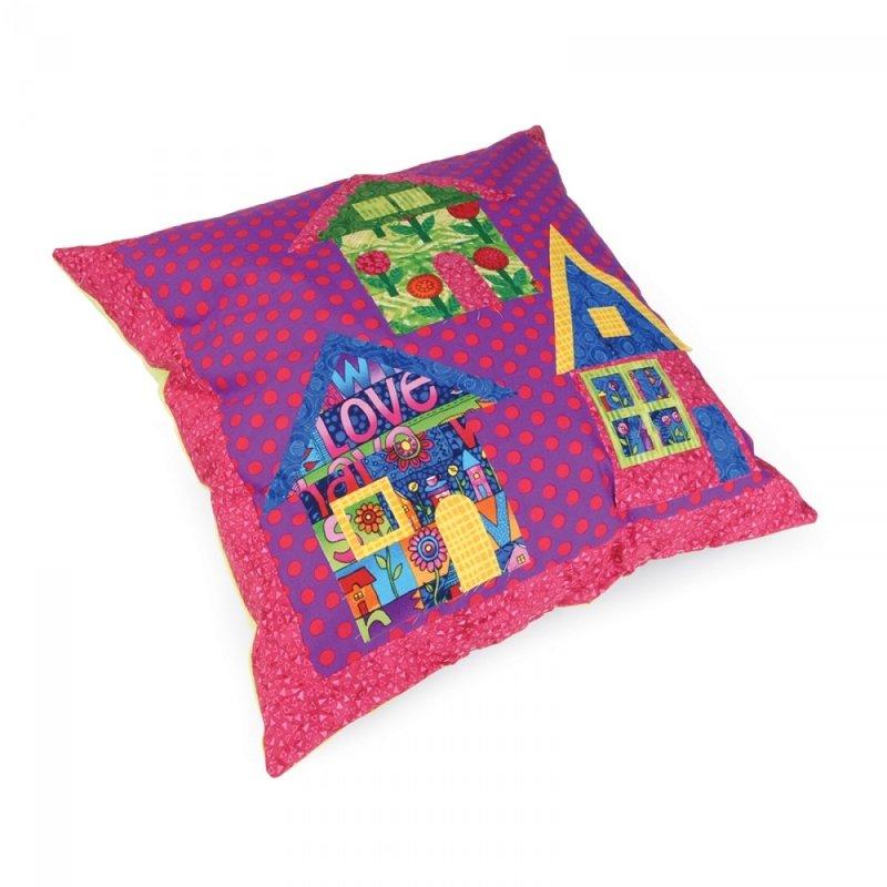 Artist's Village Pillow by Ronda McCord