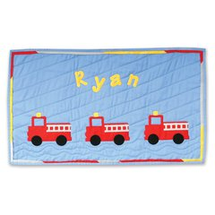 Ryan's Fire Truck Wall Hanging by Shirley Van Dyken