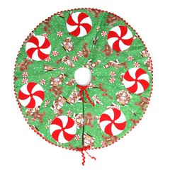 Candy Swirl Mini Christmas Tree Skirt by Kathy Ranabargar