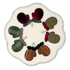 Mittens Table Topper by Kathy Ranabargar