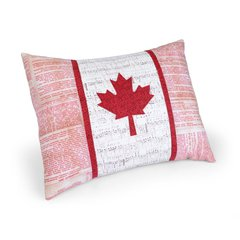 Oh Canada Pillow by Kathy Ranabargar