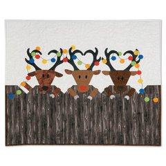 Reindeer Games Wall Hanging by Kathy Ranabargar