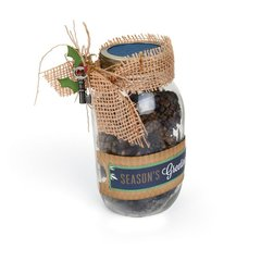 Season's Greetings Pinecone Jar by Deena Ziegler