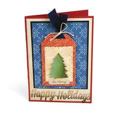 Christmas Tree Tag Card #2 by Deena Ziegler