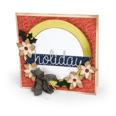 Holiday Wreath Card by Deena Ziegler