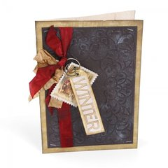 Embossed Winter Card by Wendy Cuskey