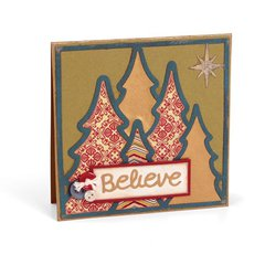 'Believe' Christmas Trees Card by Wendy Cuskey