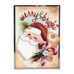 Merry and Bright Santa Card