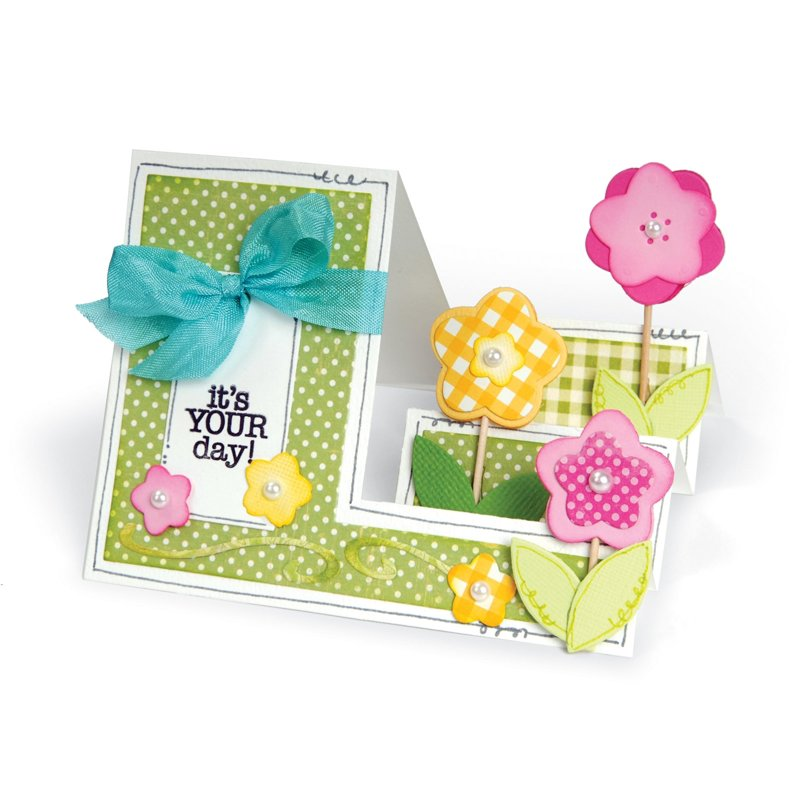 It's Your Day Flower Step-Ups Card by Deena Ziegler