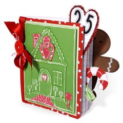 Embossed Gingerbread House Book