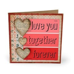 Love You Hearts Card