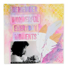 Remember Wonderful Everyday Moments Scrapbook Page