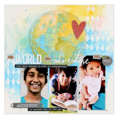 My World, My Adventure, My Story Scrapbook Page
