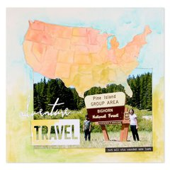 Adventure Travel Scrapbook Page