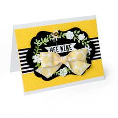 Bee Mine Wreath Card