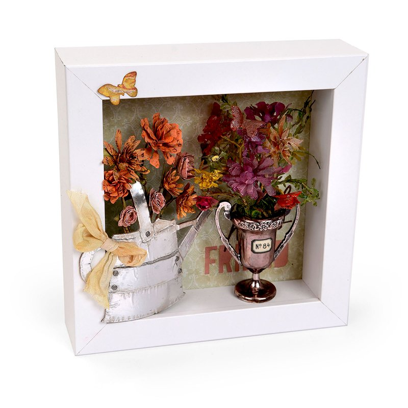 Watering Can & Trophy Shadowbox