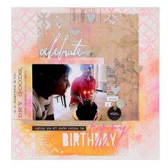 Happy Birthday Scrapbook Page #2
