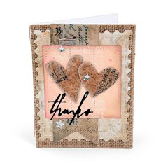 Thanks Hearts Card